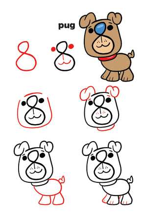 turn numbers into cute animals