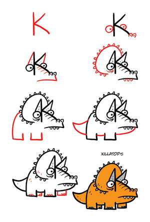 Learn how to draw all kinds of strange dinosaurs.