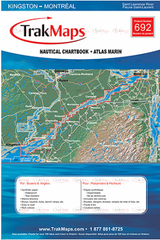 Fleuve Saint-Laurent : Kingston - Montréal - Atlas Marin Trak maps