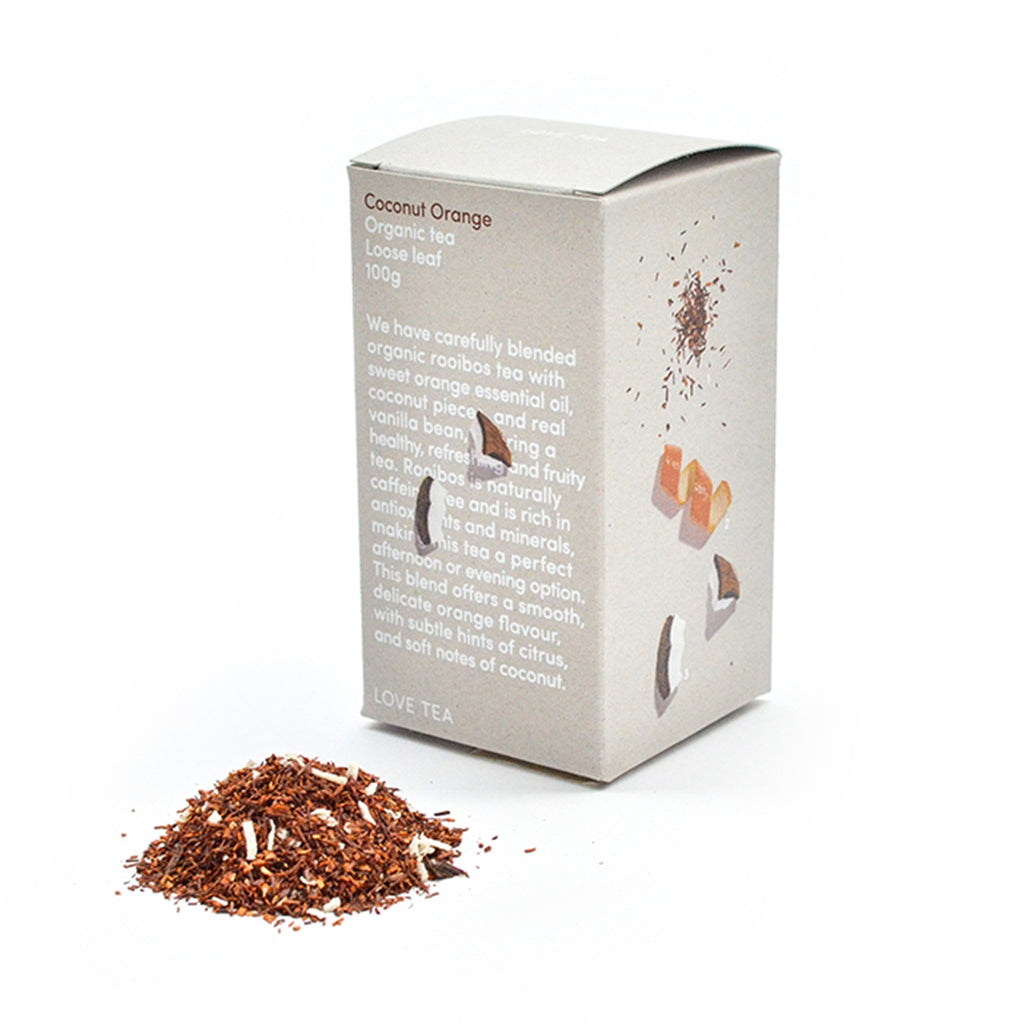 Coconut Orange Loose Leaf Box 100g