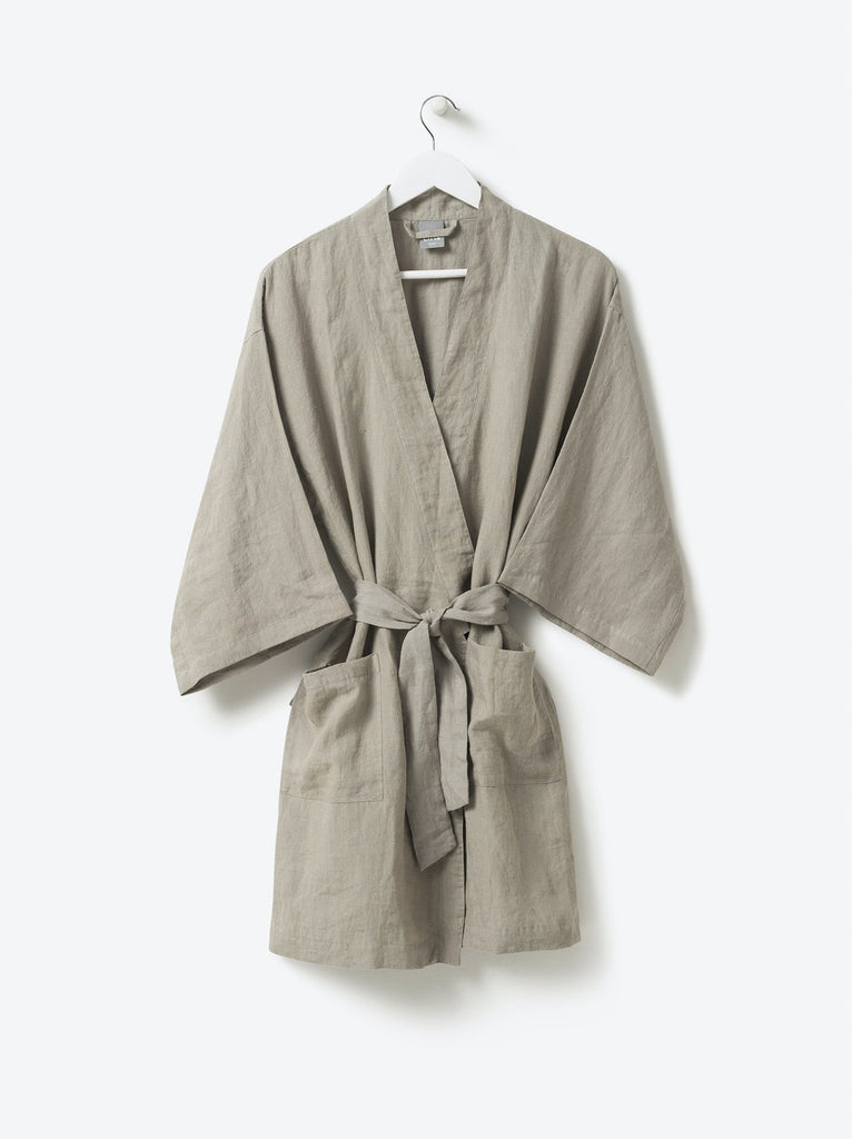 Sunday Women's Linen Dressing Gown Short