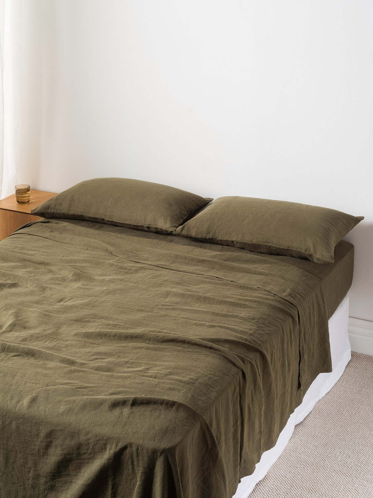 Sove Linen Fitted Sheet