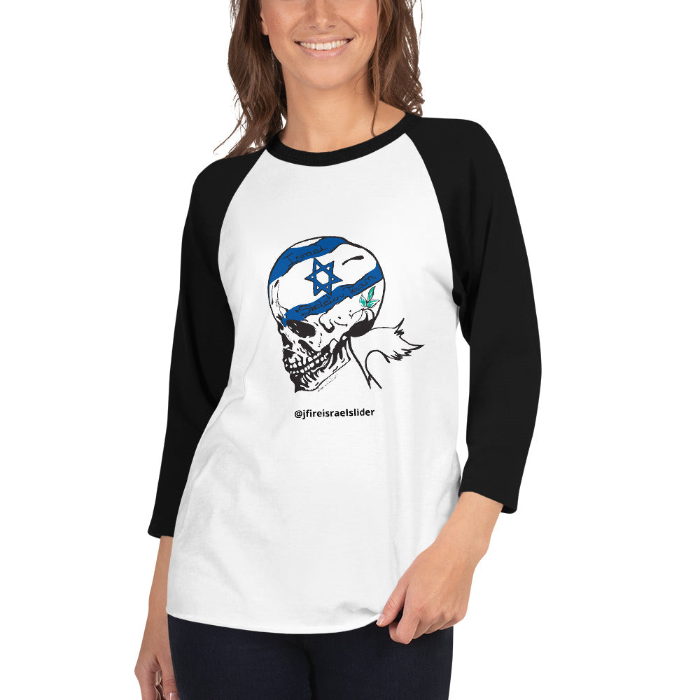 Unisex 3/4 Sleeve Israel Skeleton Team Shirt