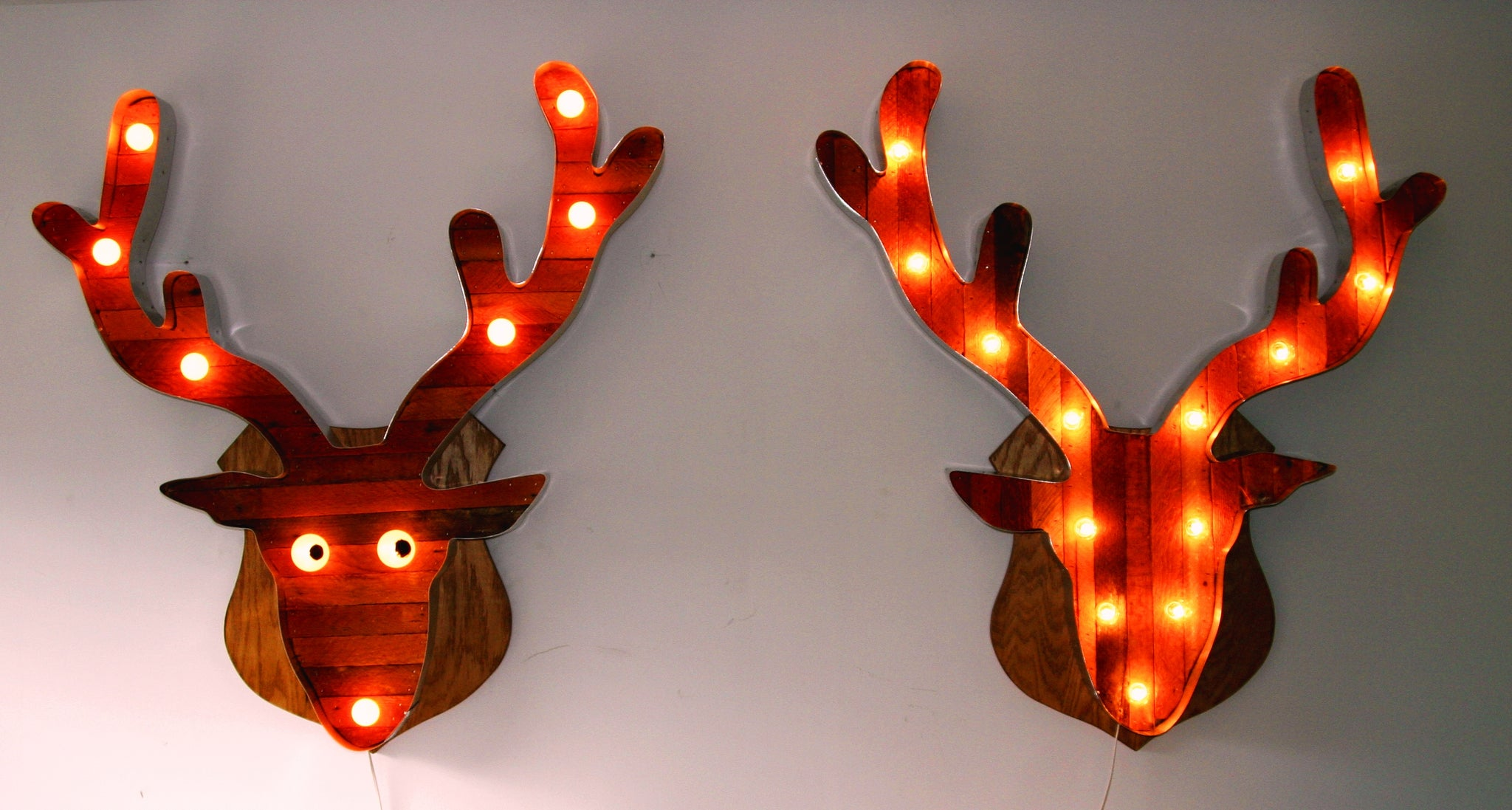 Mounted Deer Head Marquee Light