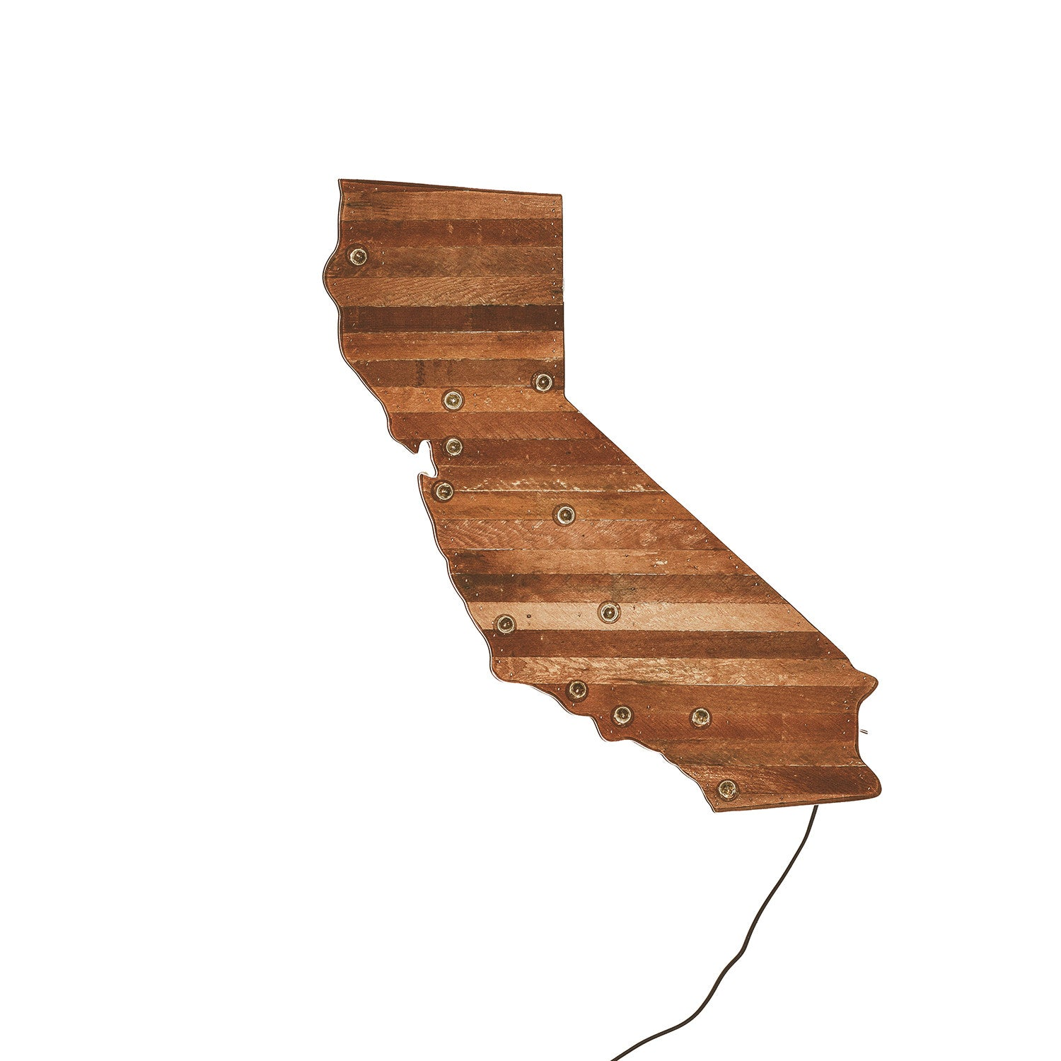 California Map Marquee Light