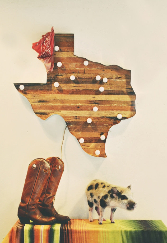 Texas Map Marquee Light