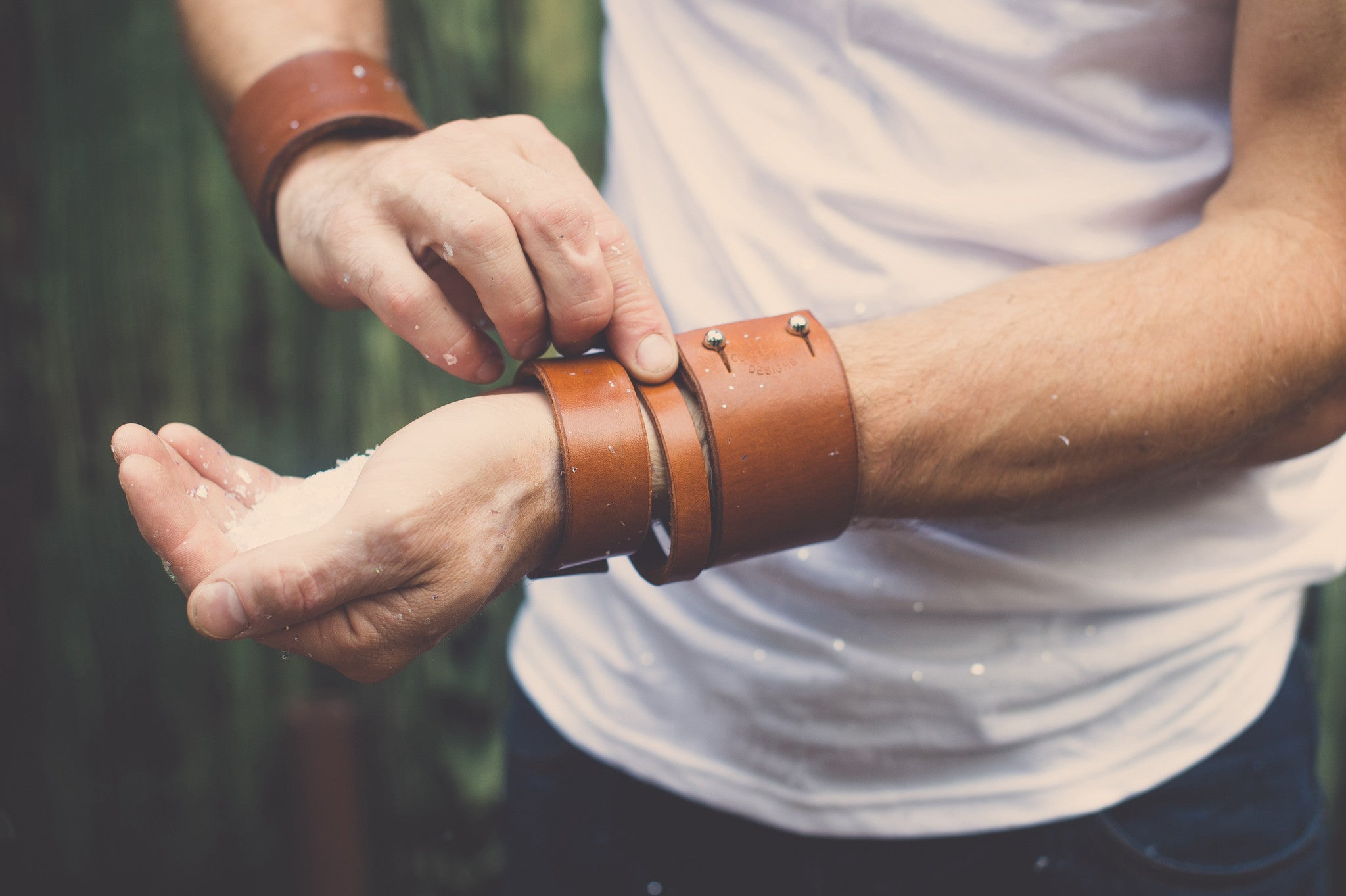 Leather Cuffs and Bracelets