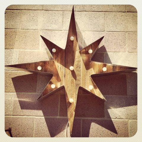 50's Star Marquee Light