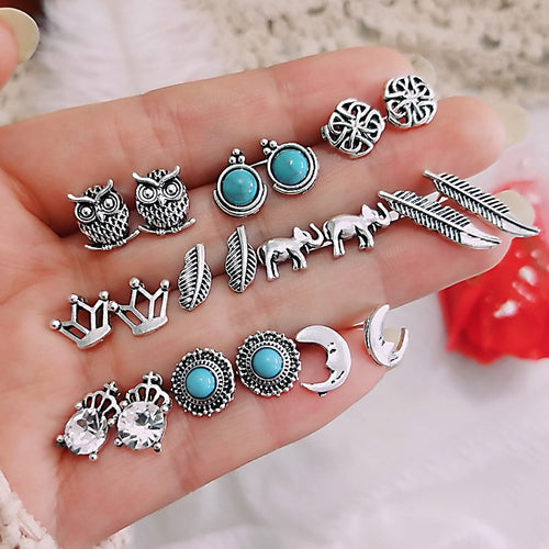 NEW April Bohemian Women Earring 20 Pcs/set