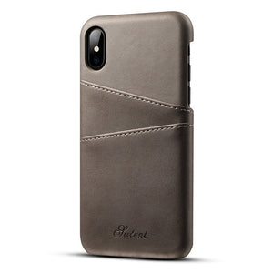 Iphone Leather Case Card Holder Wallet