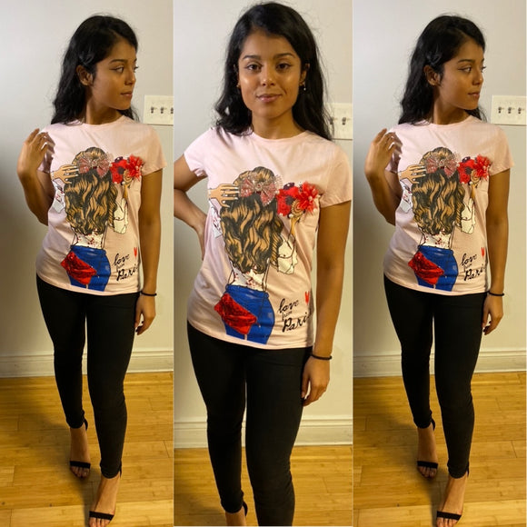 Fashion T-Shirt  - Pink