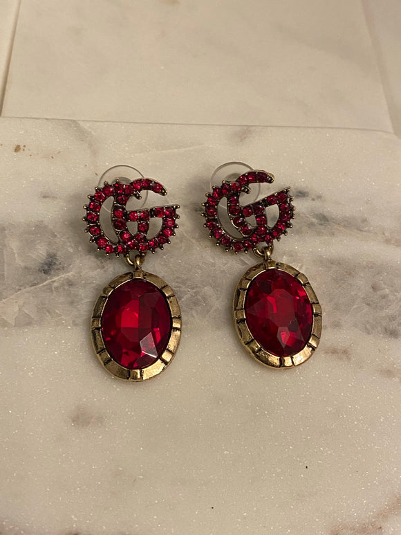 Earrings (Red)