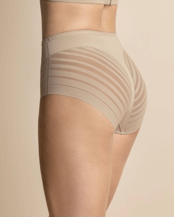 Lace Stripe Undetectable Classic Shaper Panty (Nude)