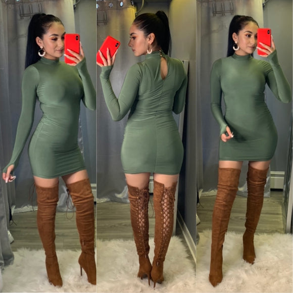 Lucky You Dress (Olive)