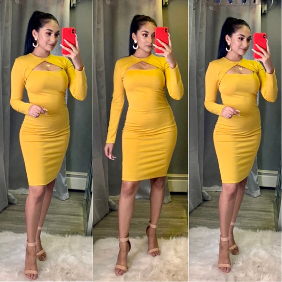 Aylin Dress (Mustard)