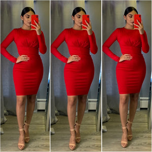 Natalia Couture Dress (Red)