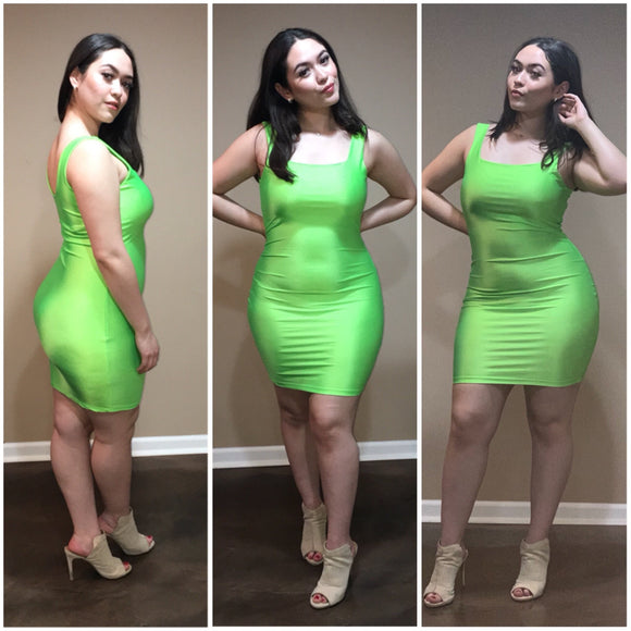 Oh So Fresh Dress - Lime Green