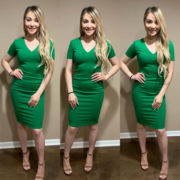 GWEN DRESS (Kelly Green)
