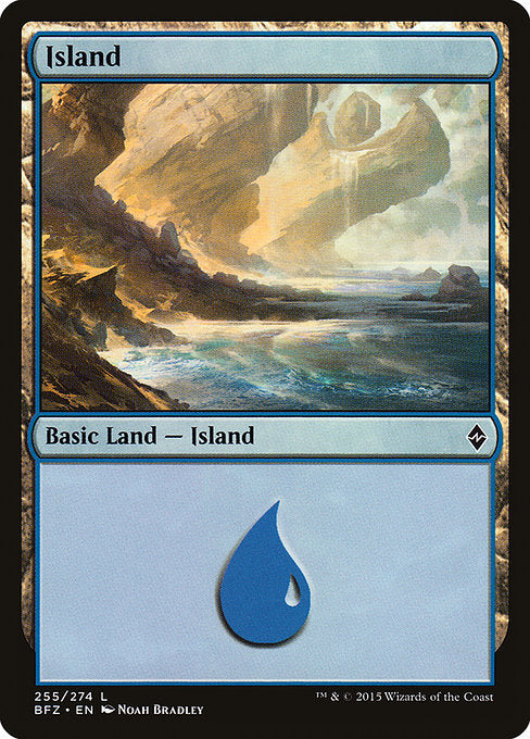 Island (Battle for Zendikar) (Not-full-art version)