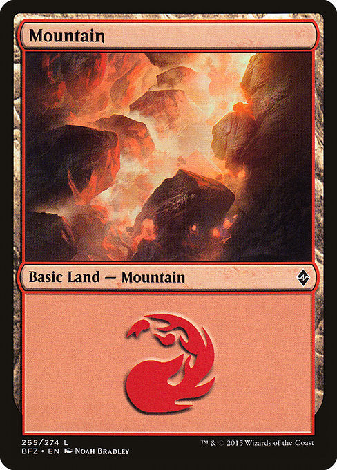 Mountain (Battle for Zendikar) (Not-full-art version)