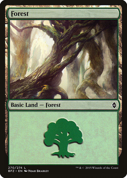 Forest (Battle for Zendikar) (Not-full-art version)