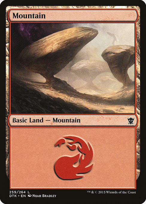 Mountain 1 (Dragons of Tarkir) (Foil)