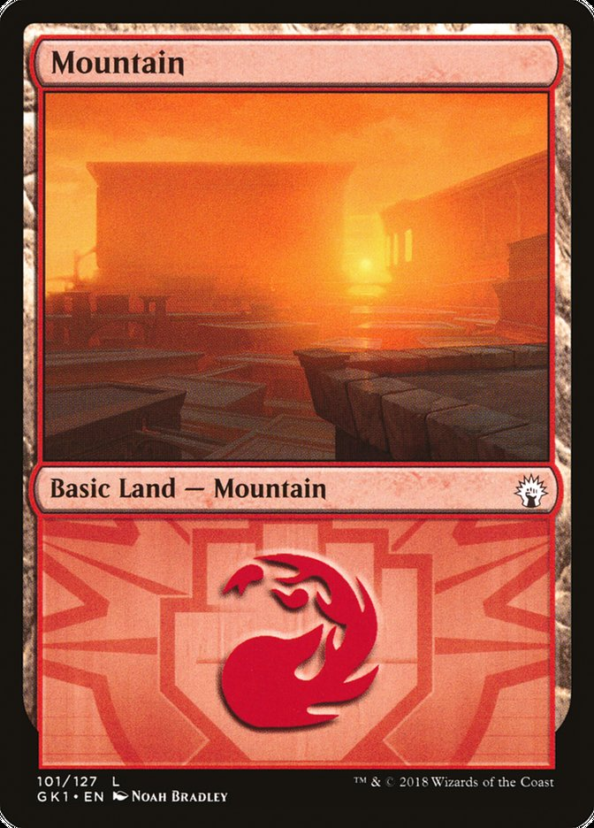 Mountain (GRN Guild Kit - Boros) (Foil)