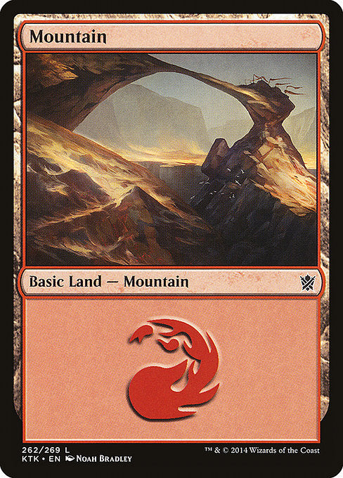 Mountain 1 (Khans of Tarkir) (Foil)