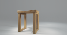Load image into Gallery viewer, Light coloured Angsana is made into this wooden stool