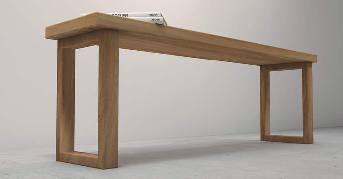 Made from 100% solid wood. Made using locally sourced trees. This is the Angsana Wood Bench.