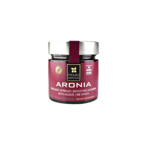 """MOURO SUPERFOODS"" ARONIA ORGANIC SPREAD WITH AGAVE (NO SUGAR)"