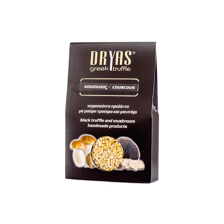"""DRYAS"" COUSCOUS WITH BLACK TRUFFLE AND PORCINI MUSHROOMS"