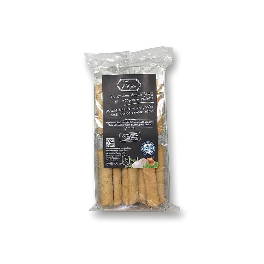 """EPTA"" BREADSTICKS FROM ASTYPALEA WITH MEDITERRANEAN HERBS"