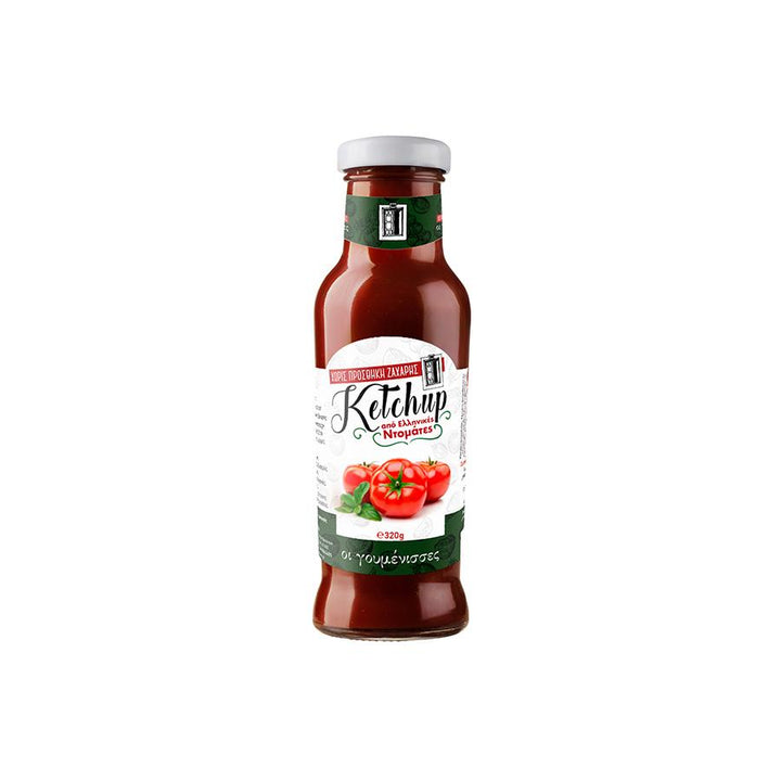 """GOUMENISSES"" KETCHUP FROM RIPE GREEK TOMATOES WITHOUT SUGAR"