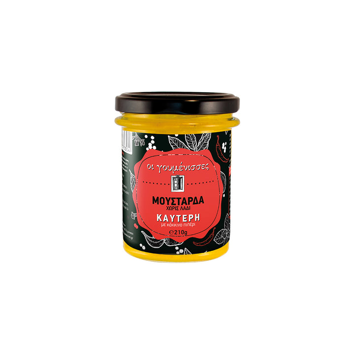 """GOUMENISSES"" MUSTARD WITH RED PEPPER"