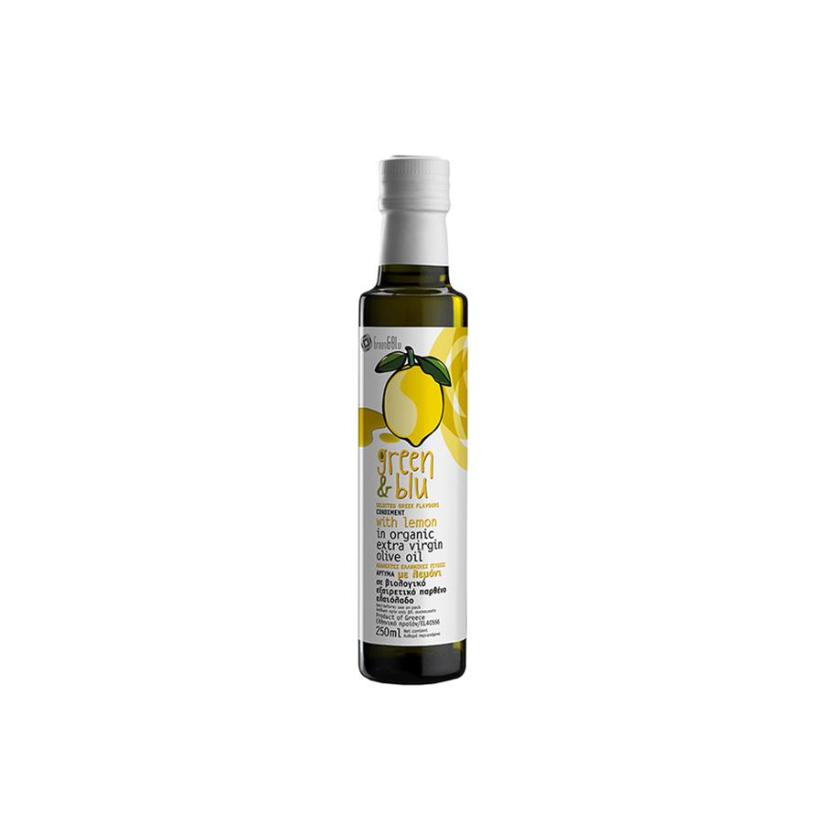 """GREEN & BLUE"" CONDIMENT WITH LEMON IN ORGANIC EXTRA VIRGIN OLIVE OIL"