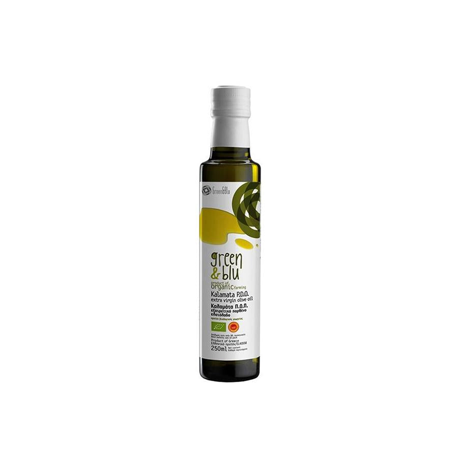 """GREEN & BLUE"" PDO KALAMATA ORGANIC EXTRA VIRGIN OLIVE OIL 250ml"