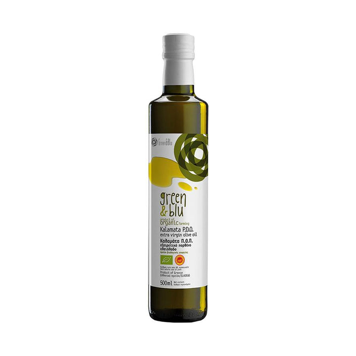 """GREEN & BLUE"" PDO KALAMATA ORGANIC EXTRA VIRGIN OLIVE OIL 500ml"