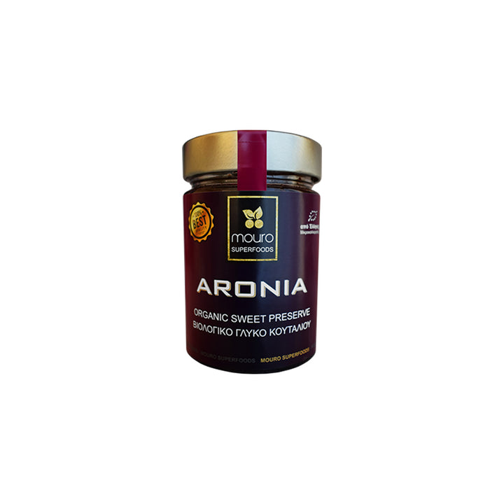 """MOURO SUPERFOODS"" ARONIA ORGANIC SPOON SWEET (NO SUGAR)"