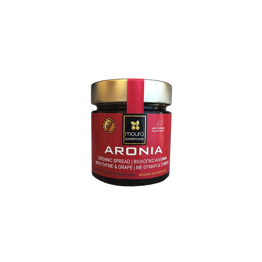 """MOURO SUPERFOODS"" ARONIA ORGANIC SPREAD WITH THYME & GRAPE (NO SUGAR)"