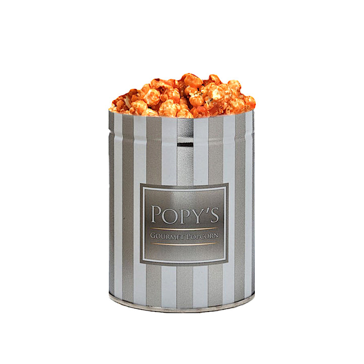 """POPY'S GOURMET POPCORN"" ORANGE CARAMELCORN (MINI TIN)"
