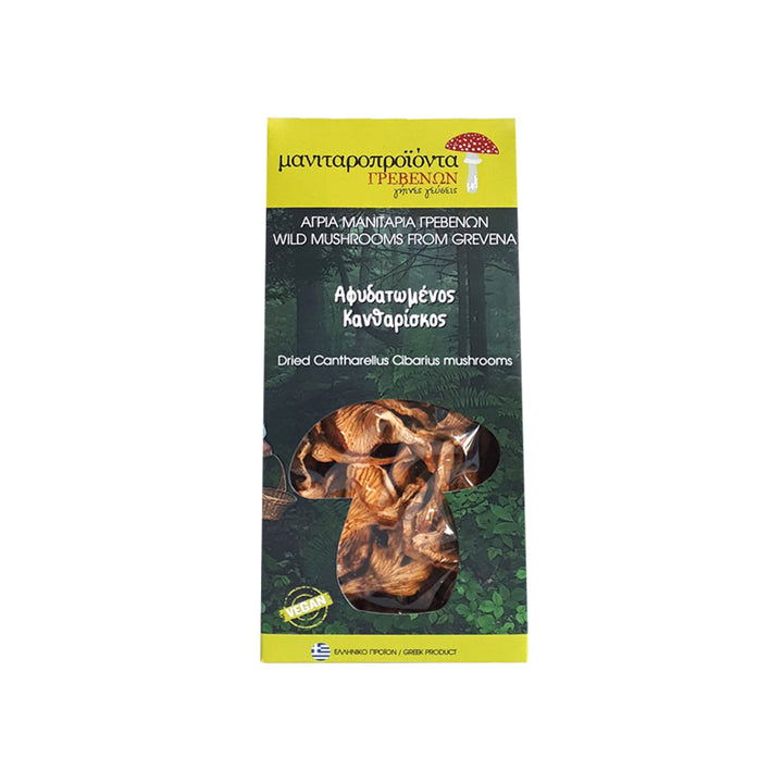 """TO MANITARI"" DRIED CANTHARELLUS CIBARIUS MUSHROOMS"