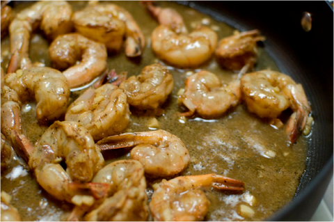 Beer and Shrimp Saute