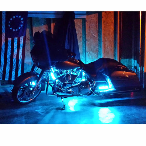 Premium Series Fireworks Multi-Color Touring/Bagger Motorcycle LED Light Kit