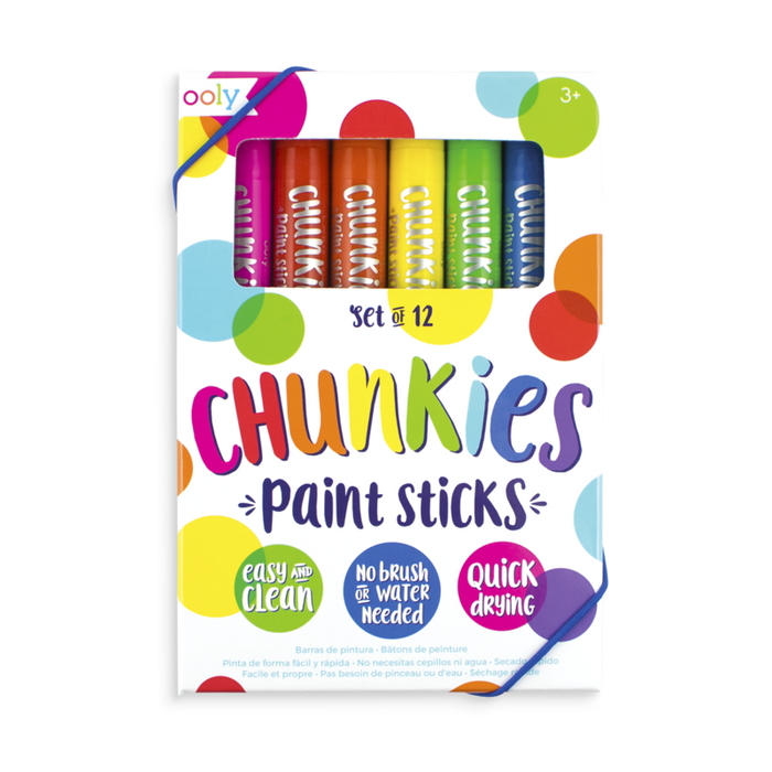Chunkies Paint Sticks Set Washable (set of 12)