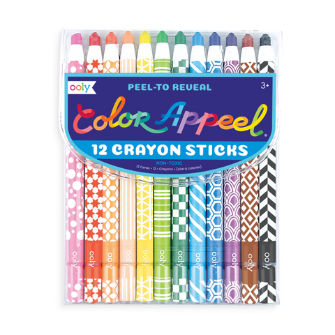 Color Appeel Crayon Stick Set  (12 Colors)