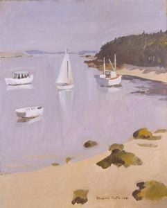 Harbor at Great Spruce Head Island, 1961 by Fairfield Porter