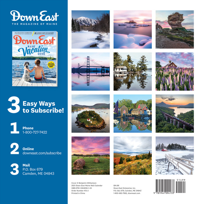 Wall: Down East Maine 2021 Calendar