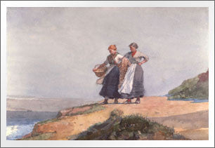 Looking out to Sea, Cullercoats, 1882 by Winslow Homer