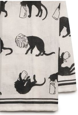 Steinlen Cats Linen Met Museum Tea Towel (Machine Washable)